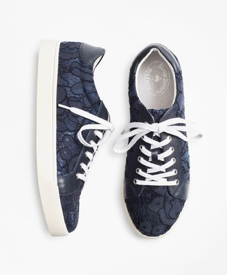 Brooks Brothers Floral Lace Low-Top Sneakers