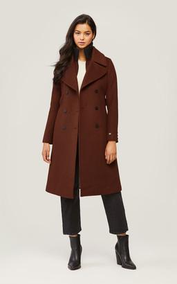 Soia & Kyo DAMARA classic wool coat with detachable bib and collar