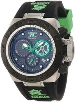 Invicta Women's 10157 Subaqua Noma IV Chronograph Black Dial Black and Green Silicone Watch