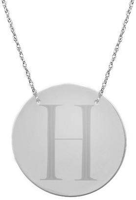 Jane Basch Silver Initial Pendant (A-Z)