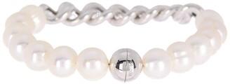 Carolee Sterling Silver Link & Freshwater Pearl Bracelet