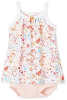 Petit Bateau Baby girl bodysuit dress with straps