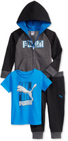 Puma 3-Pc. T-Shirt, Hoodie & Pants Set, Toddler Boys (2T-5T) & Little Boys (2-7)