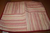 Martha Stewart Box Stripes Red Standard Quilt Sham