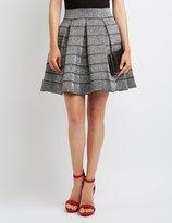 Charlotte Russe Metallic Bandage Skater Skirt