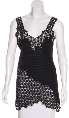Chanel Open Knit Sleeveless Top