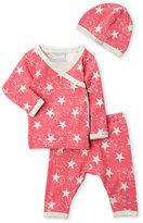 Coccoli Newborn) 3-Piece Star Print Top & Pants Set