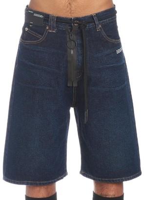 Off-White Denim Drawstring Shorts
