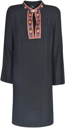 Etro Embroidered Long-sleeved Dress