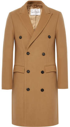 Privee Salle Ives Double-Breasted Wool-Blend Overcoat