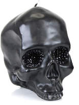 D.L. & Co. Large Crystal Eye Black Skull Candle