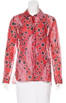 Carven Abstract Printed Blouse