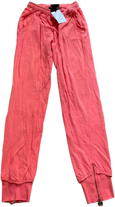 Twin-Set Twin Set Pink Cotton Trousers
