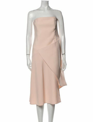 Nicholas Strapless Knee-Length Dress Pink