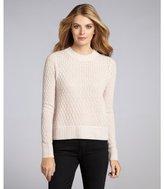 Qi misty rose cashmere 'Jodi' crewneck sweater