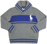 Ralph Lauren Embroidered Logo Tricot Cotton Sweater