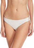 Luli Fama Shimmer Hipster Woven Swim Bikini Bottoms