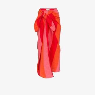 Mara Hoffman Izzi striped linen wrap skirt