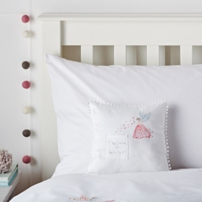 The White Company Tooth Fairy Cushion, White/Pink, One Size