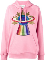 Gucci embroidered hooded sweatshirt - women - Cotton - XXS