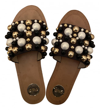 ras Black Leather Sandals