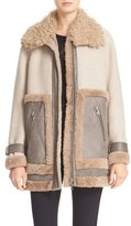 Rebecca Taylor Women's Genuine & Faux Shearling Mixed Media Coat