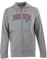 Antigua Men's Boise State Broncos Signature Zip Front Fleece Hoodie