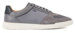 HUGO BOSS Low Top Sneakers In Mixed Materials - Grey