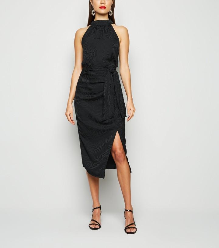 Thumbnail for your product : New Look Jacquard Satin Midi Skirt