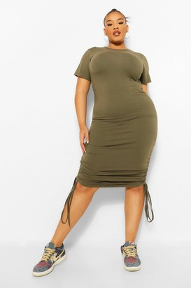 boohoo Plus Ruched Detail Bodycon Dress