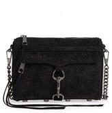 Rebecca Minkoff Mini MAC - Sparkle Leather Crossbody Bag - Black