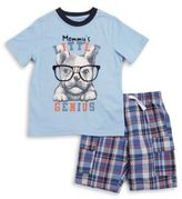 Kids Headquarters Two-Piece Printed Tee & Pants Set