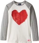 Toobydoo Be Mine Long Sleeve Heart Tee (Toddler/Little Kids/Big Kids)
