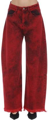 Marques Almeida Cotton Denim Boyfriend Jeans