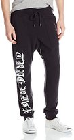 True Religion Men's Black Letter Sweatpants