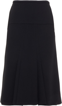 Roland Mouret Beaufort Pleated Wool-crepe Skirt