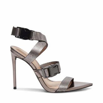 Steve Madden Women's WRUMPUNCH Pewter Heeled Sandal 3.5 UK