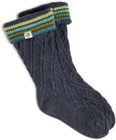 Vera Bradley Striped Cuff Boot Liner Socks