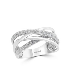 Effy Pave Classica By Diamond (3/8 ct. t.w.) Ring in 14k White Gold