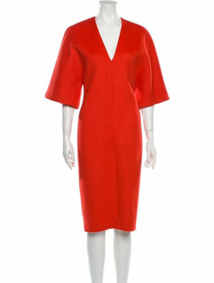 Vionnet Virgin Wool Midi Length Dress w/ Tags Wool