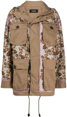 DSQUARED2 Floral-Print Jacket