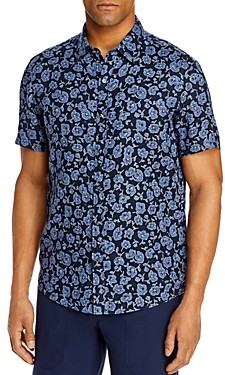 Michael Kors Linen Printed Slim Fit Shirt