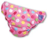 MIO Bambino Swim Nappy, Pink Spots, 27-34 Lbs, 1-Pack