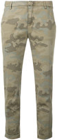 Fay camouflage print tapered trousers - women - Cotton - 40