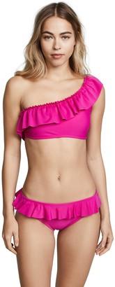 Shoshanna Women's Solid One Shoulder Ruffle Top