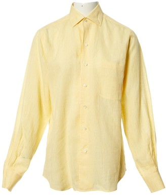 Loro Piana Yellow Linen Tops