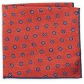 Canali Embroidered Silk Pocket Square