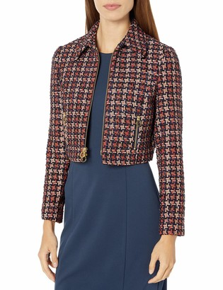 Jill by Jill Stuart Women's Check Boucle Jacket