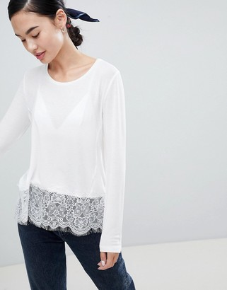 Only Lilo Top with Lace Trim