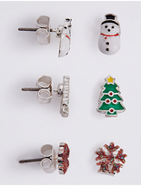M&S Collection Christmas Multi Stud Earring